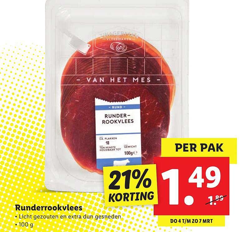 Lidl Runderrookvlees 21% Korting