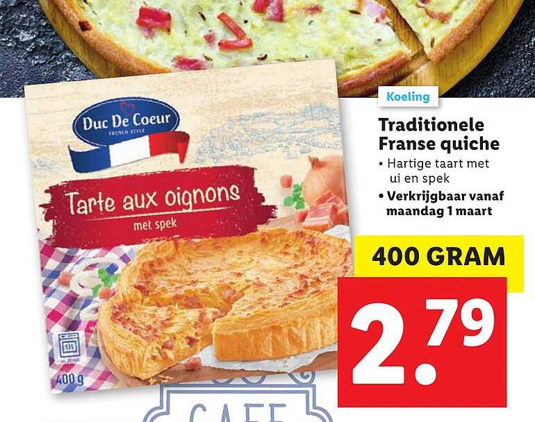 Lidl Traditionele Franse Quiche