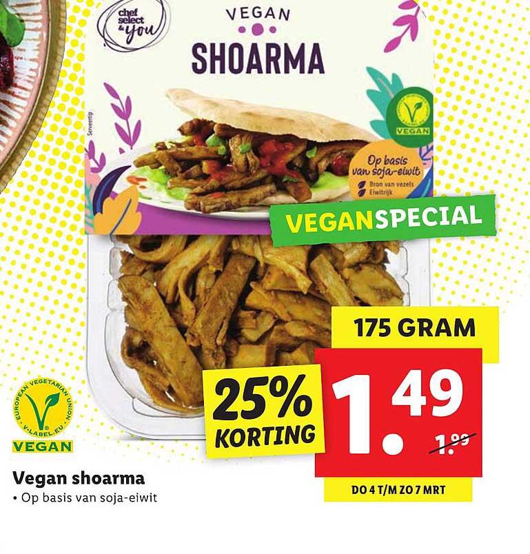 Lidl Vegan Shoarma 25% Korting