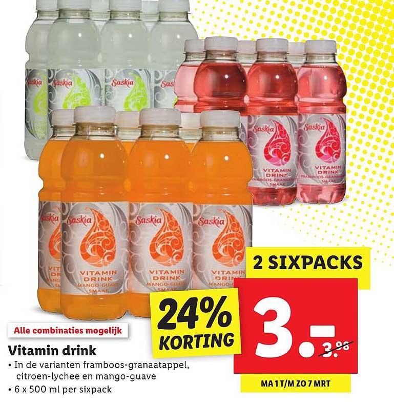 Lidl Vitamin Drink 24% Korting