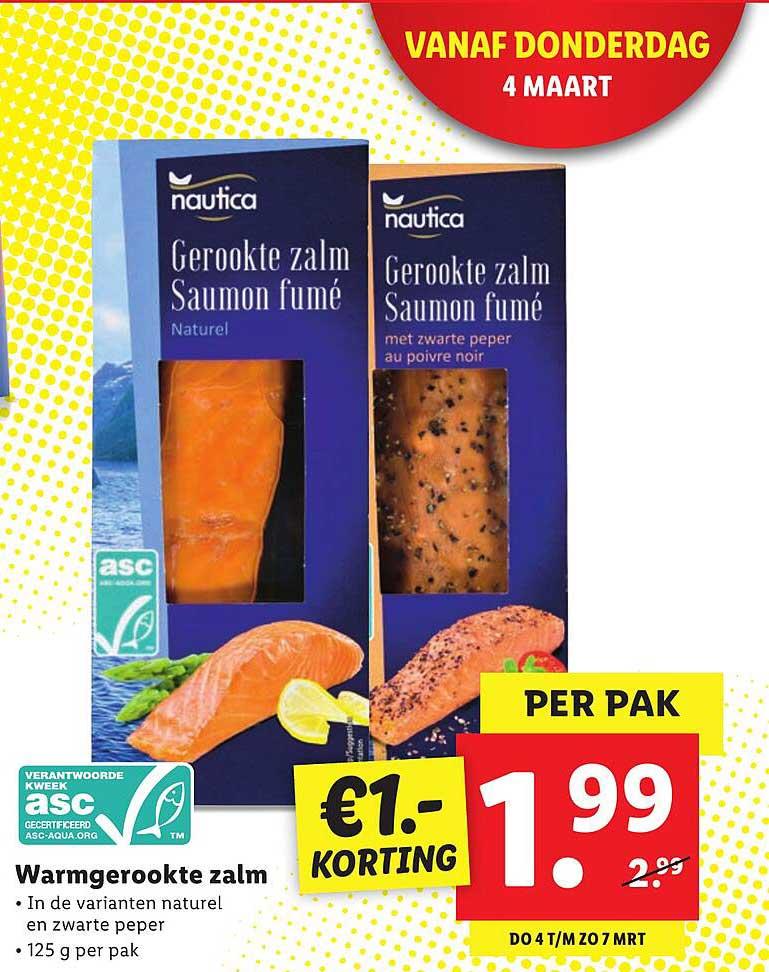 Lidl Warmgerookte Zalm €1.- Korting