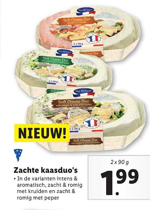 Lidl Zachte Kaasduo's