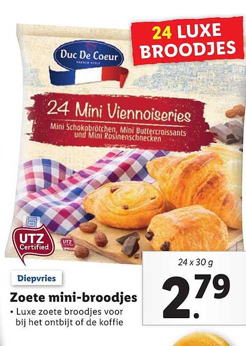 Lidl Zoete Mini-Broodjes
