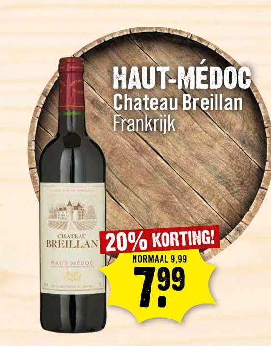 Dirck III Haut-Médoc Chateau Breillan 20% Korting