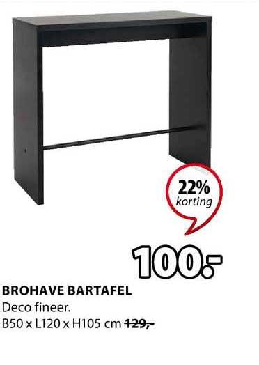 Jysk Brohave Bartafel 22% Korting