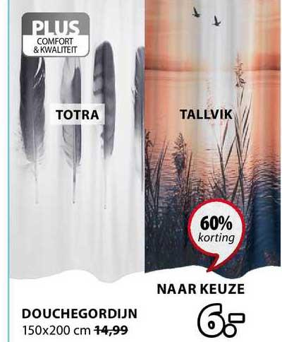 Jysk Douchegordijn 150x200 Cm 60% Korting