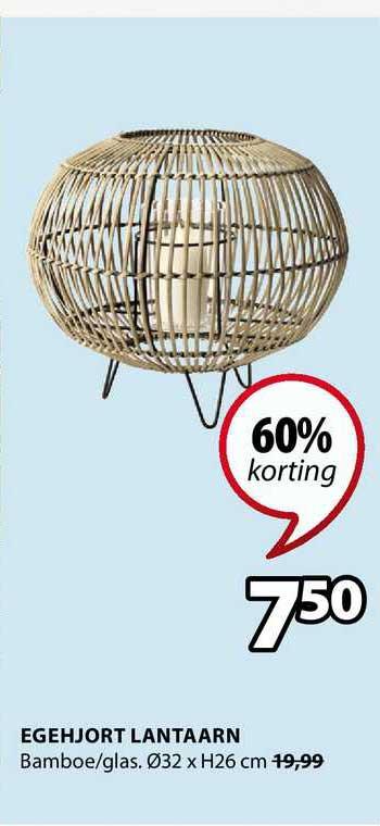 Jysk Egehjort Lantaarn 60% Korting