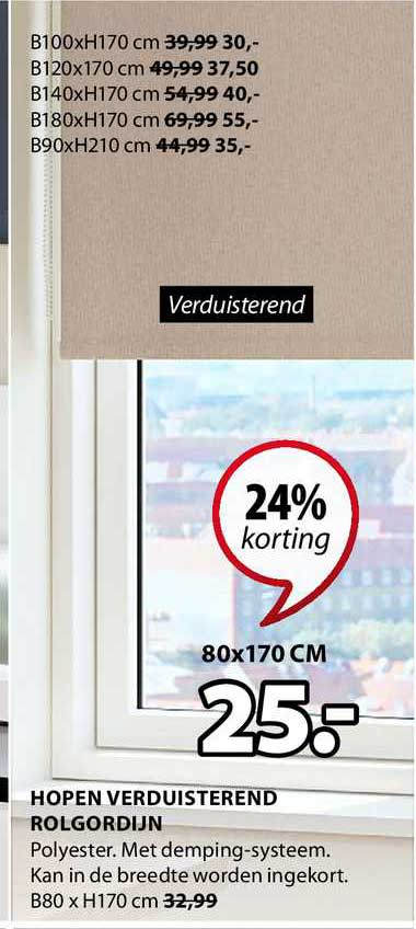 Jysk Hopen Verduisterend Rolgordijn 24% Korting