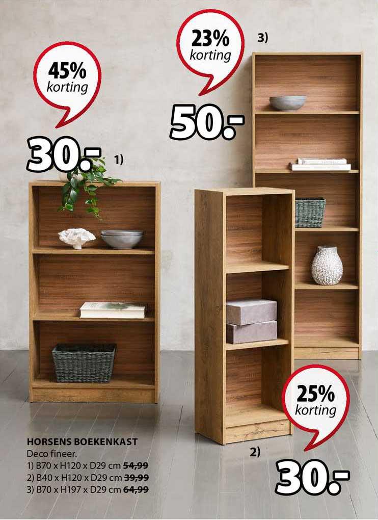 Jysk Horsens Boekenkast 23% - 45% Korting