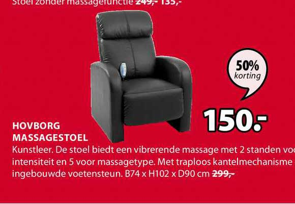 Jysk Hovborg Massagestoel B74 X H102 X D90 Cm 50% Korting