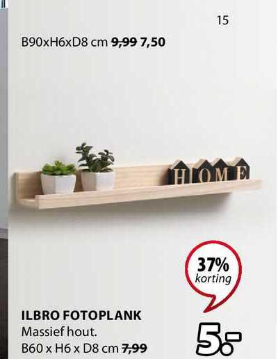 Jysk Ilbro Fotoplank 37% Korting