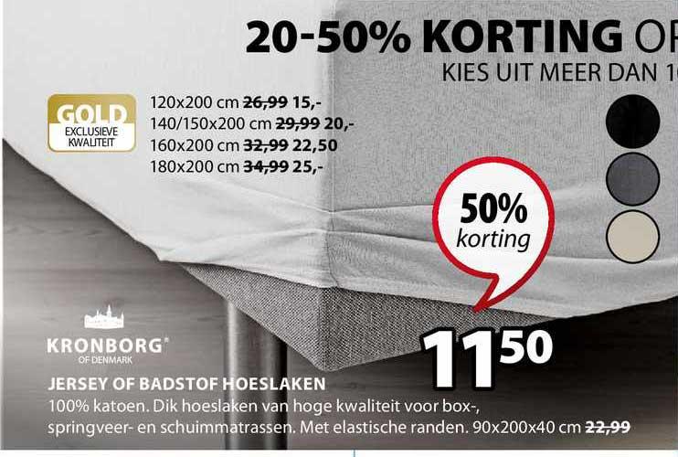 Jysk Jersey Of Badstof Hoeslaken 50% Korting