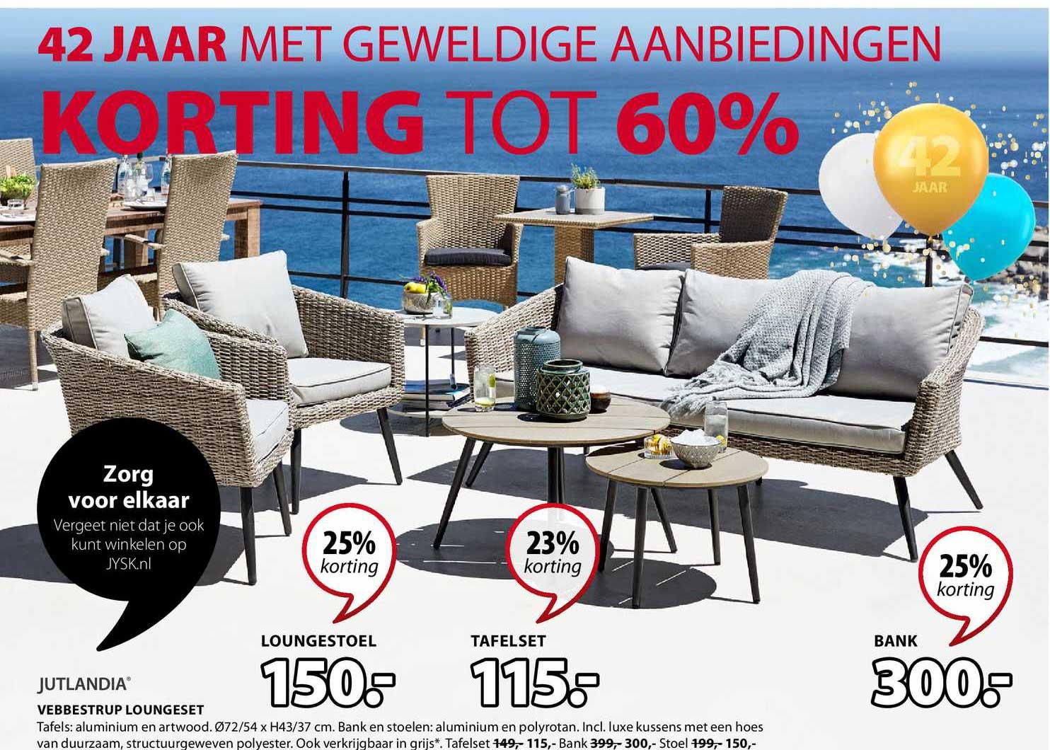 Jysk Jutlandia Vebbestrup Loungeset : Tafels, Bank En Stoelen 23% - 25% Korting