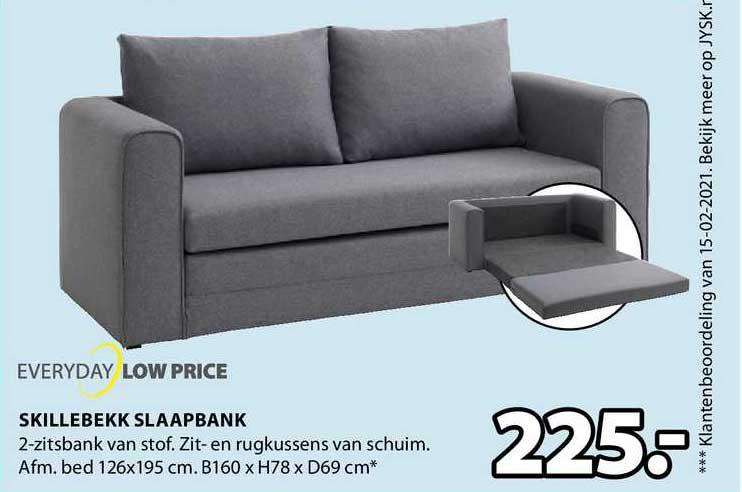 Jysk Skillebekk Slaapbank B160 X H78 X D69 Cm