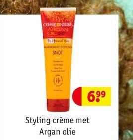 Kruidvat Styling Crème Met Argan Olie