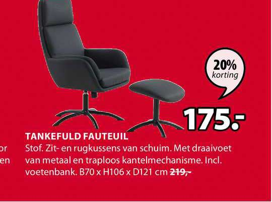 Jysk Tankefuld Fauteuil B70 X H106 X D121 Cm 20% Korting