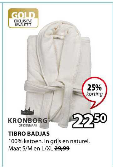 Jysk Tibro Badjas 25% Korting