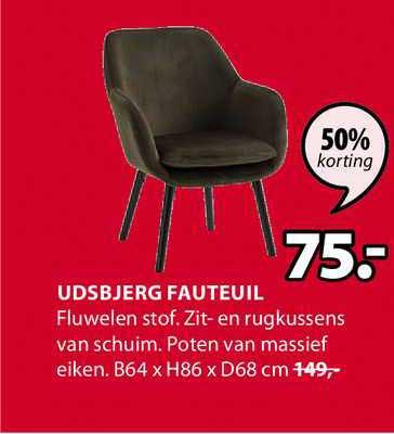 Jysk Udsbjerg Fauteuil B64 X H86 X D68 Cm 50% Korting