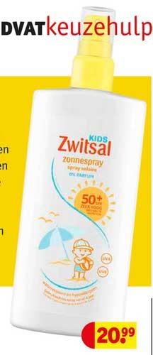 Kruidvat Zwitsal Kids Zonnespray
