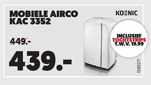 Mediamarkt KOENIC MOBIELE AIRCO KAC 3352