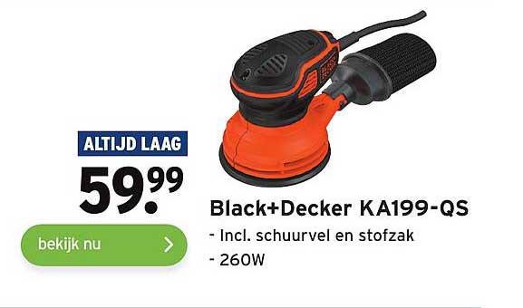 Gamma Black+Decker KA199-QS Incl. Schuurvel En Stofzak