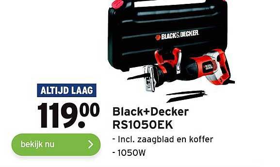 Gamma Black+Decker RS1050EK Incl. Zaagblad En Koffer