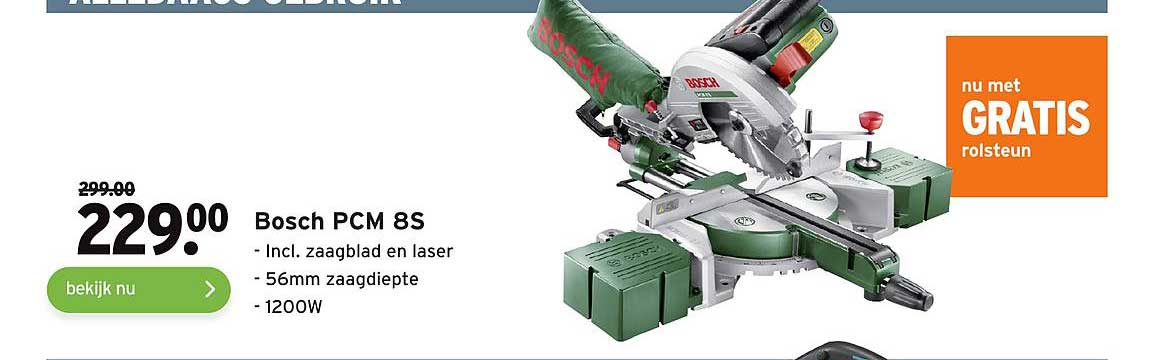 Gamma Bosch PCM 8S Incl. Zaagblad En Laser