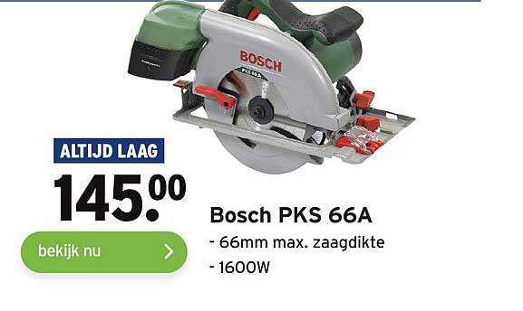 Gamma Bosch PKS 66A 66mm Max. Zaagdikte