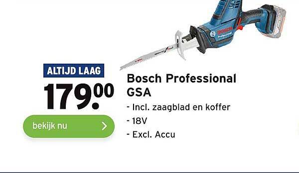 Gamma Bosch Professional GSA Incl. Zaagblad En Koffer
