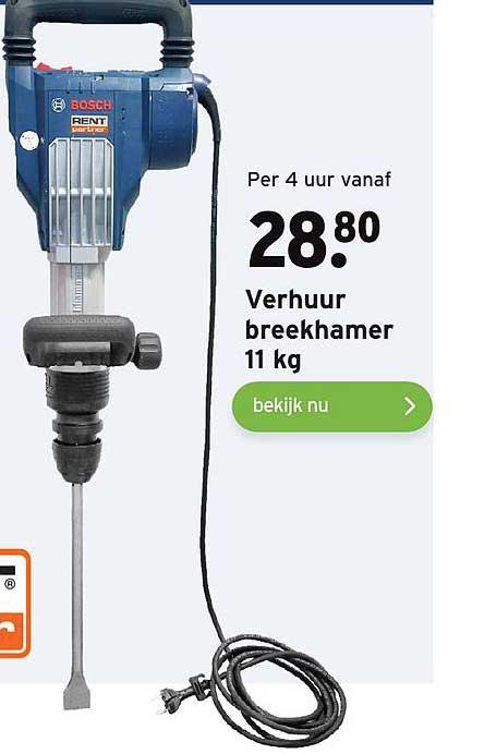 Gamma Bosch Verhuur Breekhamer 11 Kg