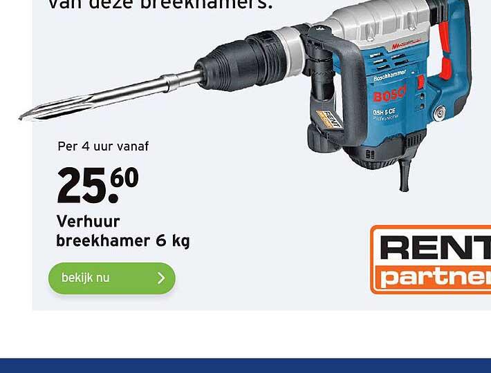 Gamma Bosch Verhuur Breekhamer 6 Kg