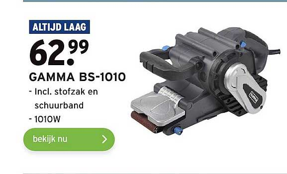 Gamma Gamma BS-1010 Incl. Stofzak En Schuurband