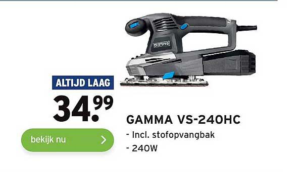 Gamma Gamma VS-250HC Incl. Stofopvangbak