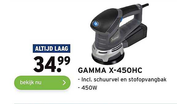 Gamma Gamma X-450HC Incl. Schuurverl En Stofopvangbak
