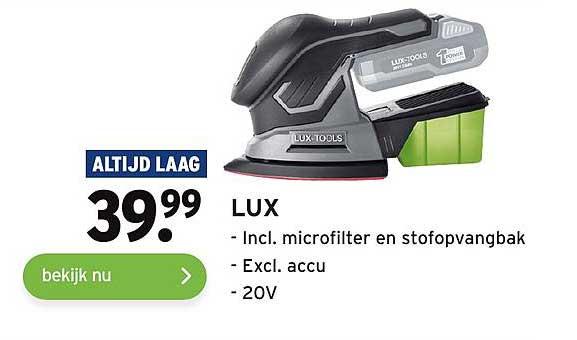 Gamma Lux Incl. Microfilter En Stofopvangbak