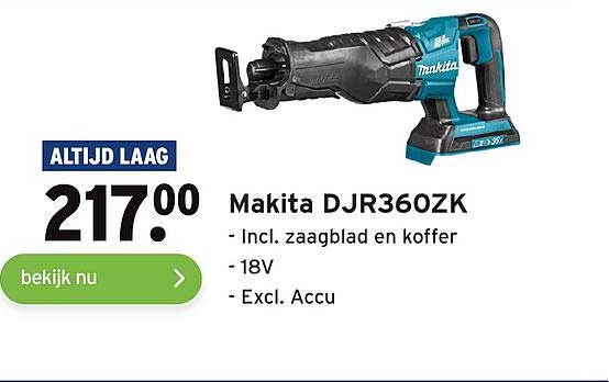 Gamma Makita DJR360ZK Incl. Zaagblad En Koffer
