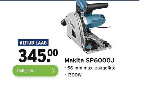 Gamma Makita SP6000J 56 Mm Max. Zaagdikte