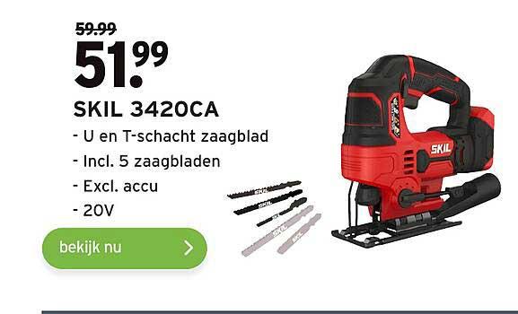 Gamma Skil 3420CA U En T-Schacht Zaagblad