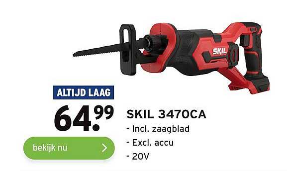 Gamma Skil 3470CA Incl. Zaagblad