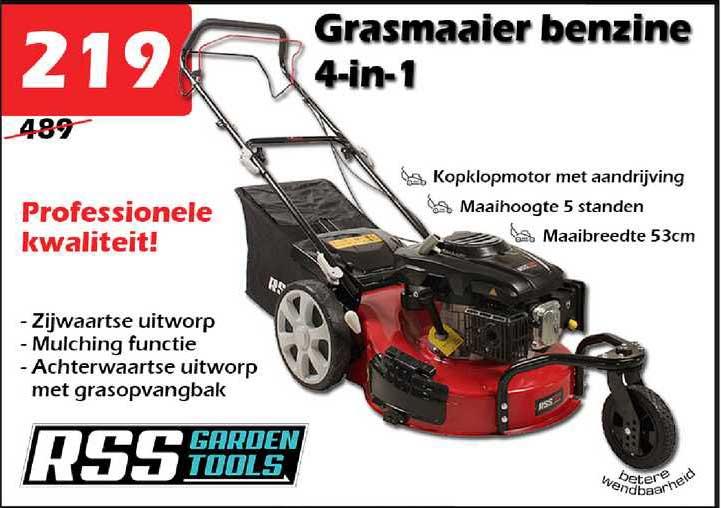 ITEK Grasmaaier Benzine 4-in-1