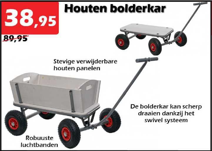 ITEK Houten Bolderkar