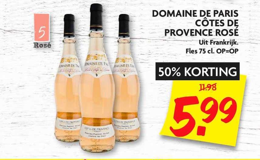 DekaMarkt Domaine De Paris Cotes De Provence Rose 50% Korting