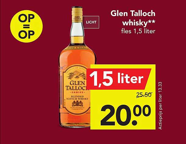 DEEN Glen Talloch Whisky