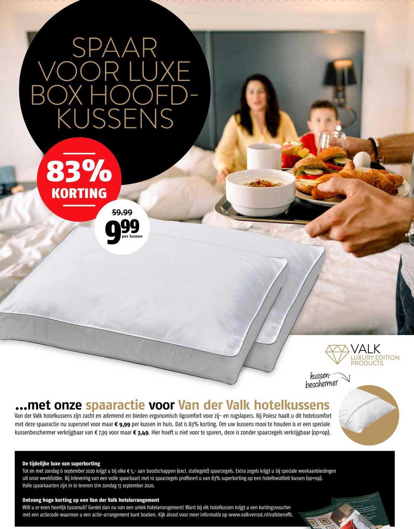 Poiesz Luxe Box Hoofdkussens 83% Korting