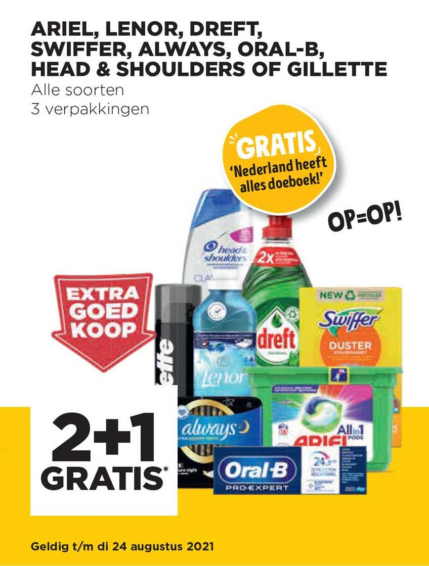 Jumbo Ariel, Lenor, Dreft, Swiffer, Always, Oral-B, Head & Shoulders Of Gillette