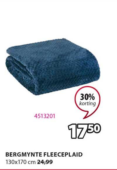 Jysk Bergmynte Fleeceplaid 130x170 Cm 30% Korting