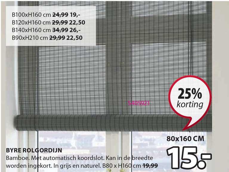Jysk Byre Rolgordijn 25% Korting