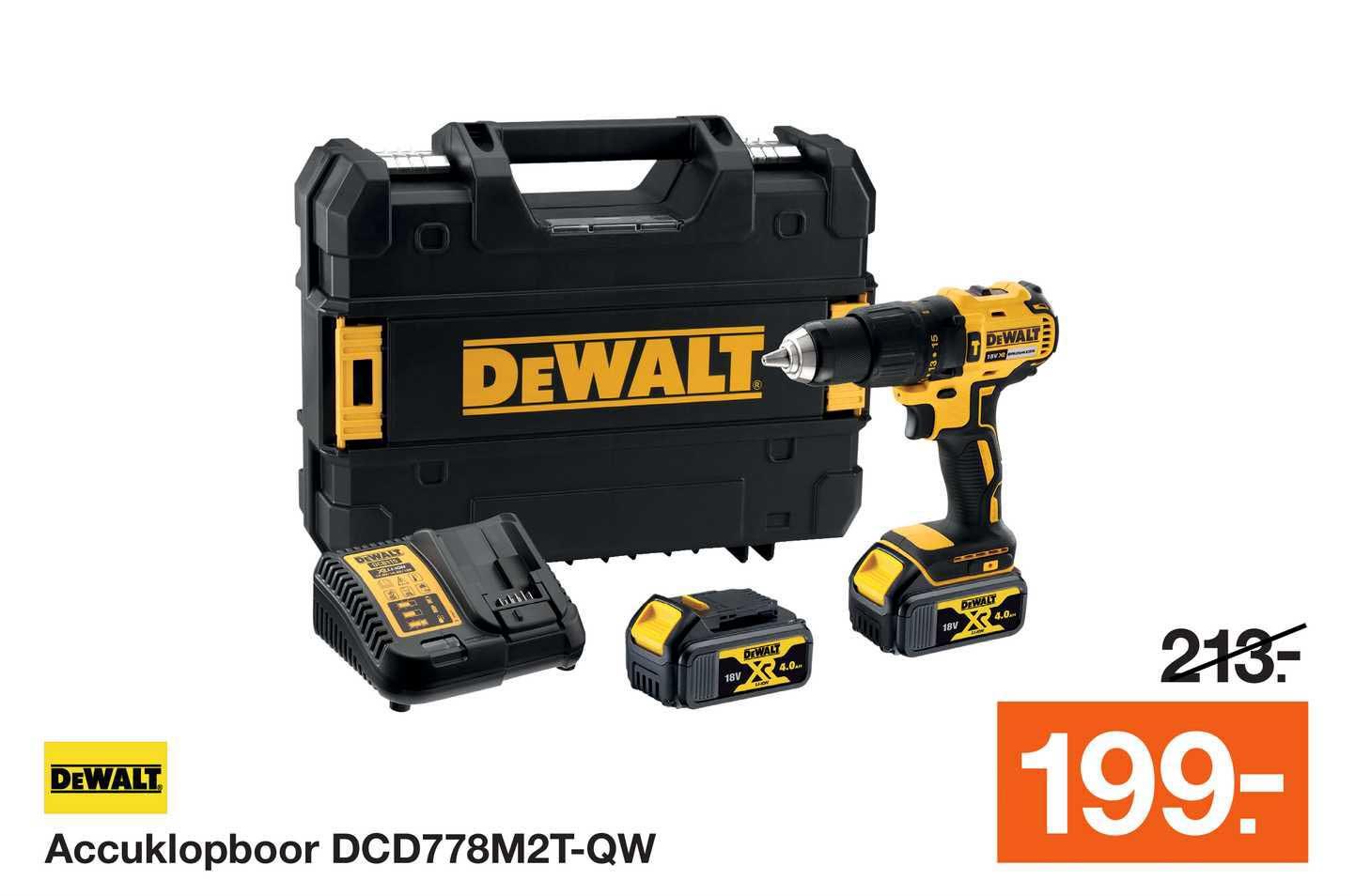 Bouwmaat DeWalt Accuklopboor DCD778M2T-QW