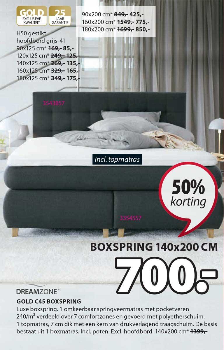 Jysk Dreamzone Gold C45 Boxspring 50% Korting