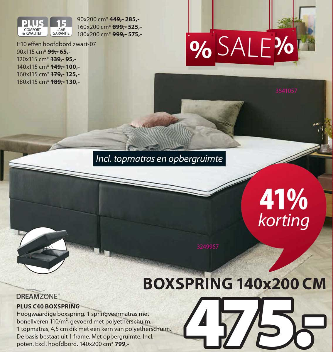Jysk Dreamzone Plus C40 Boxspring 41% Korting